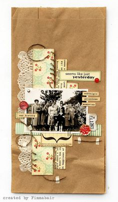 Paper bag collage by Finnabair