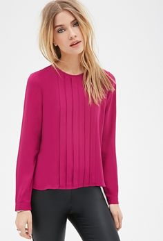Pleated Chiffon Blouse from FOREVER 21
