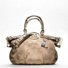 coach shoulder bags outlet 1nrr  Best Buy Coach Madison Op Art Signature Sateen Sophia Satchel Bag 18650  Khaki Natural