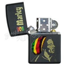 Bob Marley Zippo Lighter in Rasta Colors