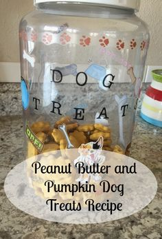 Super easy peanut butter and pumpkin dog treats. My pups love them. They are soft and chewy.