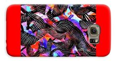 Wow Painting Full Of Sensual Energy And Vibrant Color. Full Spectrum .massive Texture .expressionist Abstract Party . Galaxy S6 Case featuring the painting Midnight Mard Gras by Expressionistartstudio Priscilla-Batzell