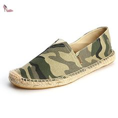Alexis Leroy Men's Classic Stripe Canvas Flat Espadrilles Alexis Leroy-One Brand One Promise Durable And Flexible Rubber Outsole Safe Quick Delivery Quality Manmade Material Upper Imported Striped Espadrilles, Women's Shoes Sandals, Heels, Striped Canvas, Partner, Ankle Strap, Slip On, Sneakers, Young Women