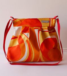 Bolso bag tasche hecho a mano tela loneta canvas algodon cotton calidad elegante color accesorios complementos Lolahn Handmade - Rojo Pop 1