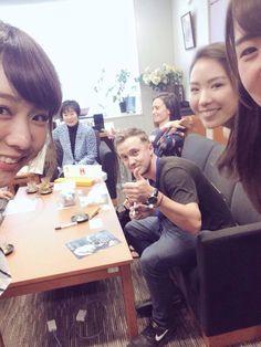 "tom-felton-and-jade-gordon-daily: ""Tom Felton and Jade Gordon in Tokyo """