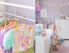 little girl's bedroom with dress up