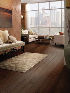 The Bouvardia hardwood flooring by Floorcraft will visually impact your home with its rich color and texture. Hickory Flooring, Engineered Hardwood Flooring, Vinyl Plank Flooring, Hardwood Floors, Tile Flooring, Carpet Flooring, Flooring Ideas, Living Room Windows, Living Room Carpet