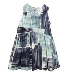 Blue Line Print Dress, Maan Girls Dresses, Summer Dresses, Baby Dresses, Kid Styles, Kids Wear, Dress Me Up, Dress To Impress, Kids Outfits, Girl Fashion