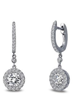 Free shipping and returns on Lafonn Classic Halo Drop Earrings at Nordstrom.com. Encrusted with light-catching simulated diamonds from top to bottom, supremely elegant halo drop earrings add a glamorous finish to your night-out or bridal look.