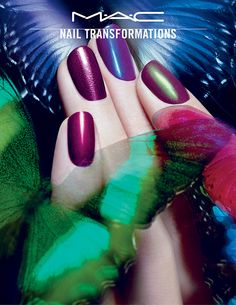 MAC's New Nail Polishes Will Give Your Manicure a Major Makeover MAC's New Nail Polishes Will Give Your Manicure a Major Makeover Great Nails, Fabulous Nails, Gorgeous Nails, Love Nails, How To Do Nails, Mac Nails, New Nail Polish, Creative Nails, Manicure And Pedicure