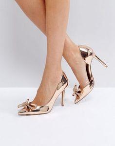 f532b8ddfc4 ASOS POPPIN Pointed Bow High Heels at asos.com