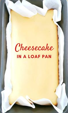 Basic Loaf Pan Cheesecake - Homemade small-batch cheesecake that is quick & easy to make, simple ingredients, no sour cream, & no water bath needed; perfect for beginners. Serve this creamy dessert plain or with your favorite toppings! Small Cheesecake Recipe, Homemade Cheesecake, Easy Cheesecake Recipes, Cheesecake Bars, Banana Cheesecake, Classic Cheesecake, Ricotta Cheesecake, The Cream, Sweets