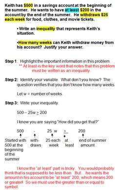 Printables Inequality Word Problems Worksheet math words and word problems on pinterest inequality problems