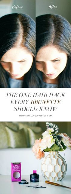 Hair color | hair hacks | hair color ideas for brunettes | brunette hair #GrayAway #nomoregraydays #AD