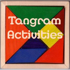 tangrams; books, printables, activity sheets; living math