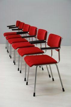6x Gispen stoel 1235 / 6x Gipsen chair