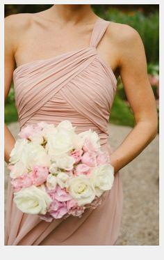 blush bridesmaid dresses | Blush Bridesmaid Dresses One Shoulder Tagged: bridesmaid dress blush