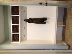 "Closet turned mudroom. I like the simplicity of the design, no fluffy cushions. lots of room to ""drop"" the stuff and go"