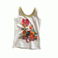 #zomertop #meisjeskleding #onlinekinderkleding #Silvianheachkids