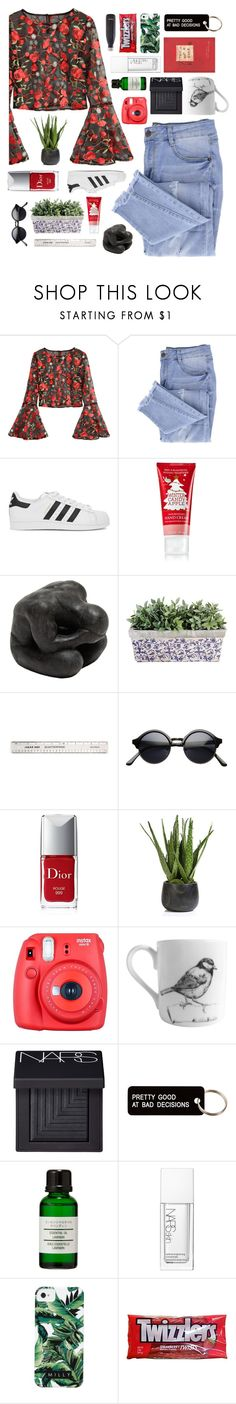 """did you think I wouldn't hear all the things you said about me?"" by scattered-parts ❤ liked on Polyvore featuring Essie, adidas Originals, Oly, Christian Dior, Zodax, Fuji, Elli Popp, NARS Cosmetics, Various Projects and Muji"