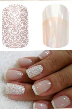 Fun wedding idea! Jamberry Nails for the bride, bridal party, flower girls and mothers!