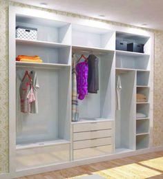 Armario panelado me gusta las puertas del armario y las - Diseno interior armarios ...