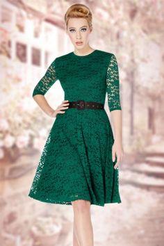 Vixen Green Lace Dress 102 40 15247 03232015 02W