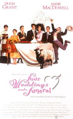 [CasaGiardino]  ♡  ♥  ♡  Four Weddings and a Funeral (1994) Memorable quotes, hilarious, witty British humour and poignant scenes.