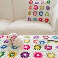 Crochet Starburst motif blanket, color. #betulakceylancrochet :  Crochet Starburst motif blanket, color. #betulakceylancrochet  #betulakceylancrochet #Blanket #Color #Crochet #motif #Starburst Granny Square Slippers, Grey Couches, Crochet Blanket Patterns, Crochet Blankets, Square Blanket, Crochet Gifts, Love Seat, Knitting, Crafts