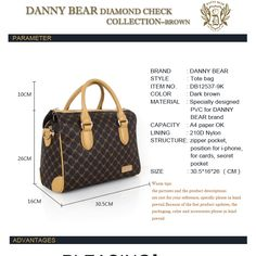 2013 Latest Fashion Bags For Women Coffee Diamond Check Designer Handbags Wholesale, Bags Handbags Women