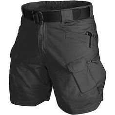 "Helikon Uts Urban Tactical Shorts 8.5"" Mens Ripstop Police Security Pants Black"