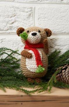 Bear Ornament Free Crochet Pattern from Red Heart Yarns