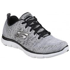 337ddd3677 Skechers Womens Ladies Flex Appeal 2 0 High Energy Lace Up Trainers Sneakers