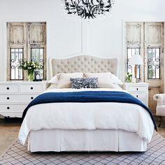 Riviera Bedhead - King Size - Antique White