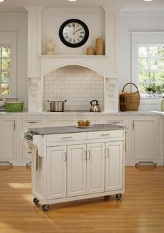 Here's an easy way to add counter space and storage space to your kitchen. This rolling kitchen cart is almost like having a kitchen island. Roll it to where you're cooking.... roll it away when you're done. (Other sizes and styles available.)