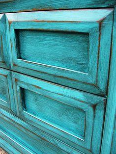 Custom – Turquoise Dresser | Do It Yourself Home Designs & Furniture Refinishing