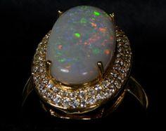 Opal Doublet Ring US 6.5 We sell Australian Opal Only by YesOpal