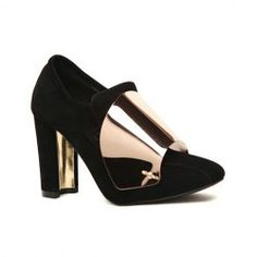 $20.06 Casual Stylish Elegant Women's Pumps With Chunky Heel Metal Embellished Design