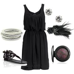 Black, created by starrynight3 on Polyvore