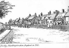 Sketch of Yaxley Main Street | Animal transport, Domestic, Incidental, Urban villages, Visual Art | Yaxley