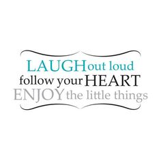 Brewster WPQ0813 Laugh Out Loud Wall Quote Home Decor Wall Decals ($16) ❤ liked on Polyvore featuring home, home decor, wall art, words, text, quotes, fillers, writing, phrase and saying