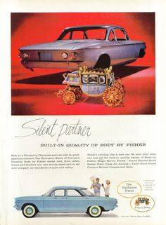 Silent partner Body by Fisher Corvair ad 1960