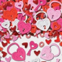 Hearts ShimmerRed Heart Wedding Table ConfettiFoiletti Decoration 14-84g