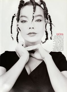 bjork, interesting braids