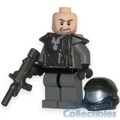 Lego style HALO ODST Custom Carbon Color Minifig with Rifle - FREE USA SHIP!!!