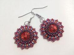Beaded Crafts, Crochet Earrings, Drop Earrings, Beads, Beadwork, Youtube, Mandala, Jewelry, Ear Jewelry