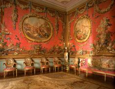 The Tapestry Room at Osterley Park. England.