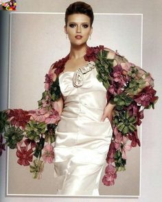 Шикарная шаль «Цветы» (Вязание крючком) | Журнал Вдохновение Рукодельницы