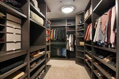 A walk-in closet you could get lost in!
