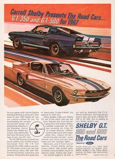 1967 Ford Mustang Shelby GT 350 500 Road Cars Ad
